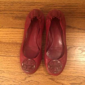 Tory Burch Ballet Flats in Red - Size 6